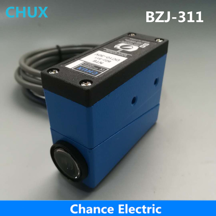 CHUX BZJ-311/NT6-N112 Packing Machine photo cell switch color mark Sensors photoelectric BZJ-311 color mark sensor photoelectric switch for packing machine bzj 313