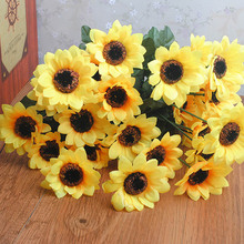 Sunflower Simulation Bouquet Artificial Flower Home Decoration Fake Wedding DIY Bridal