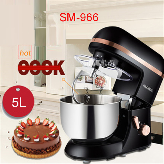 Kitchen Robot Through Wall Exhaust Fan Sm 966 220v 50 Hz Mixer Electric 5l 1000 W Eggs Cake Stand For Cooking Mixing Black
