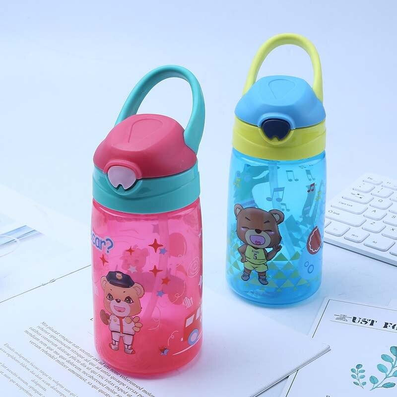 Flaschen 430 Ml Nette Bär Flaschen Für Baby Mädchen Jungen Infant Wasser Milch Flasche Fütterung Tasse Mit Stroh Unterscheidungskraft FüR Seine Traditionellen Eigenschaften