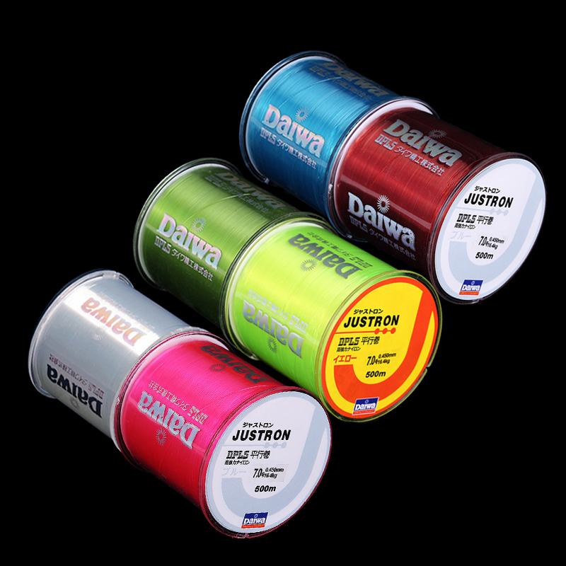 Hot Salell !! fiske linje 500m 6pcs / lot Monofilament Sterk Kvalitet Farge Nylon Fishing Line 8LB 10LB 12LB 16LB 20LB 25LB