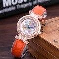 Lo nuevo de Las Mujeres Casual Relojes de Pulsera Señoras de la Marca de Cuero de Lujo de Cuarzo Reloj de Vestir Mujeres de la alta calidad Pequeño Dial Relojes 2017