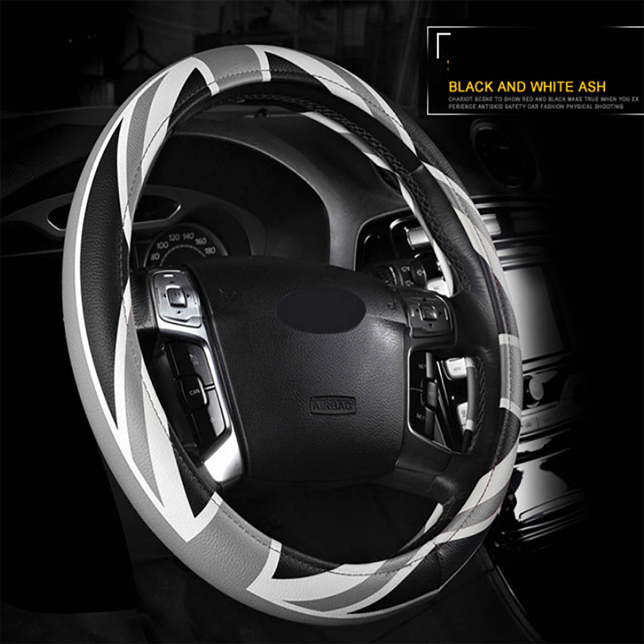 Interior popular Car accessories Steering wheel cover universal for cars 37 38cm diameter steering wheel car styling in Steering Covers from Automobiles Motorcycles