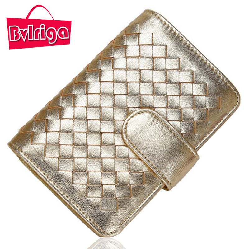 Bvlriga Knitting Small Genuine Leather Women Wallet Female Coin Purse Lady Wallet Organizer Clutch Bag Money Credit Card Holder