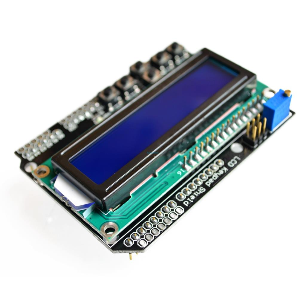 10PCS/LOT LCD Keypad Shield LCD1602 LCD 1602 Module Display  ATMEGA328 ATMEGA2560 Raspberry Pi UNO Blue Screen