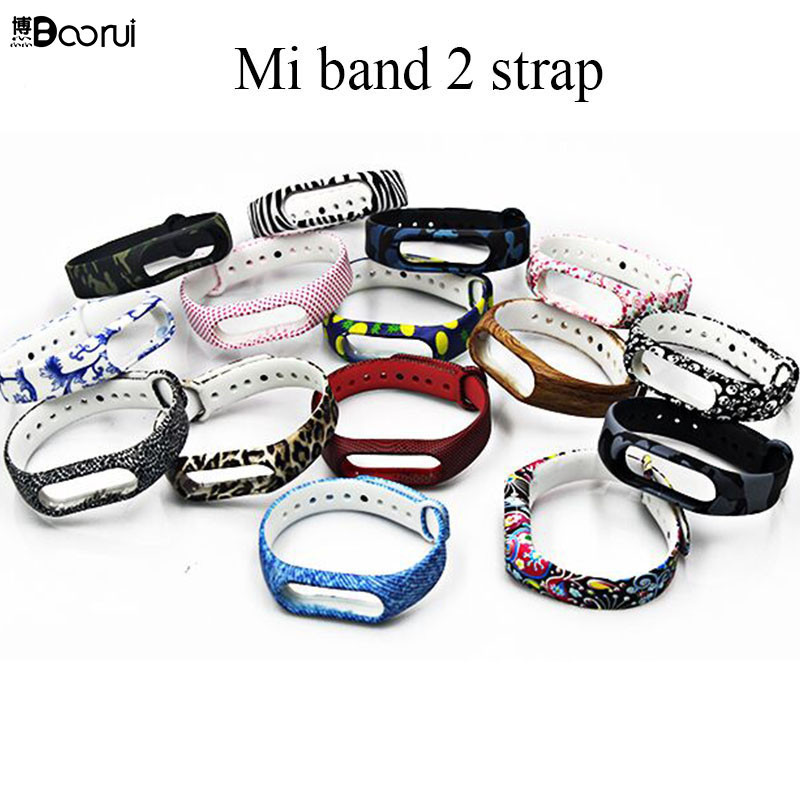 Colorful Mi Band 2 Strap Silicone Environmental Healthy Miband 2 Wrist Strap Mi 2 Wearable Smart