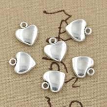 30 шт подвески с милым сердцем 12x10 мм ручная работа для изготовления