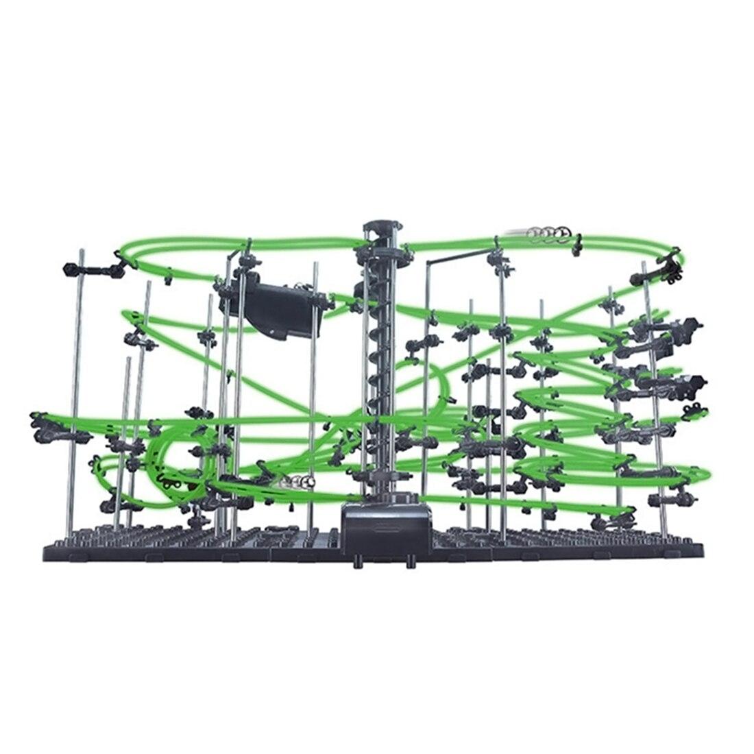 Espace Rail niveau 4 bricolage jouets éducatifs pour les enfants brillent dans les montagnes russes sombres avec des boules en acier 26000mm Kits de construction modèle