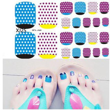 5pcs/lot Glitter toenail Sticker Fashion Summer Foot Toe water decals Nail Art Stickers water transfer nail sticker wraps 22tips sheet toe nail stickers waterproof full cover foot decals toe nail wraps adhesive stickers diy salon manicure