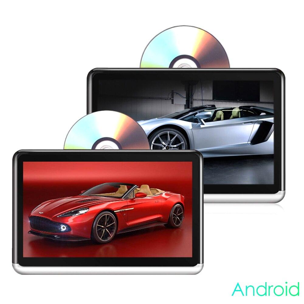 10.2 pouces Android 6.0 lecteur CD DVD écran tactile IPS 1366*768 TFT-LCD voiture appuie-tête moniteurs avec WIFI Bluetooth lien miroir