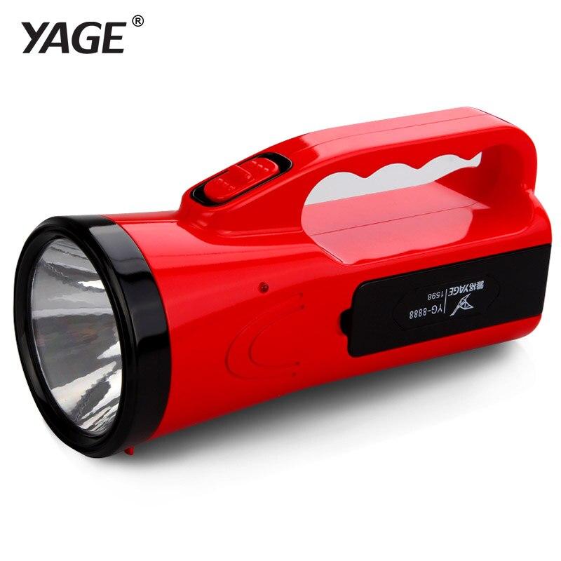 YAGE portable light led flashlight camping lantern searchlight portable spotlight double lamp lantern desk lamp light 2-modes