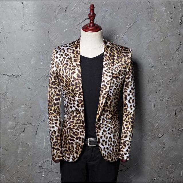 La Moda Marca Gratis Envío Slim Chaquetas Hombres Estampado De xPxAItY