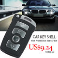 Boa qualidade 4 botões inteligente remoto shell chave do carro para BMW substituição de bmw SÉRIE 7 E65 E66 E67 E68 chave com logotipo.