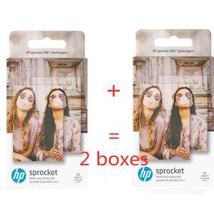 Image 1 - ورق رسم الصور الأصلي HP sprinket100 200 ورق طباعة الطابعة 5x7.6 سنتيمتر (2x3 بوصة) HP zink لصق ورق الصور 20 /40 ورقة