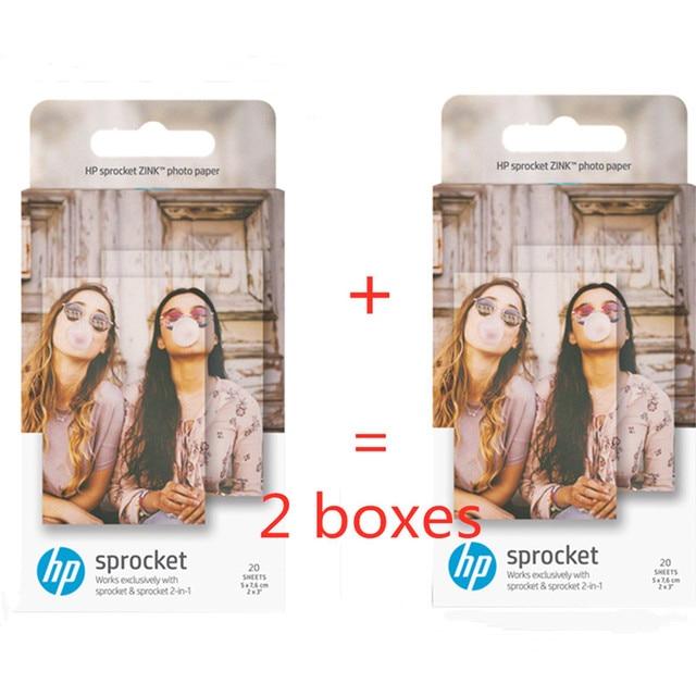מקורי תמונה גרפי נייר HP sprinket100 200 מדפסת הדפסת נייר 5x7.6cm(2x3 סנטימטרים) HP zink להדביק תמונה ניירות 20 /40 גיליון