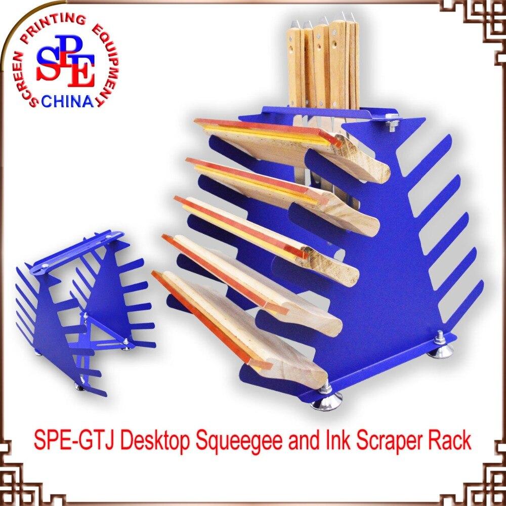 SPE-GTJ screen printing squeegee and ink scraper rack , squeegee holder rubber squeegee blade for screen printing ink scraper print doctor 25 5mm