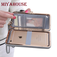 Miyahouse Bow Wallet Women Long Purse Hasp Design Female Cell Phone Wallets PU Leather Card Holder