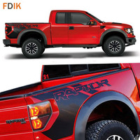 Matte Black Body Rear Tail Side Trunk Graphics Vinyl Decals SVT Sticker For Ford F150 Raptor 2009 2010 2011 2012 2013 2014