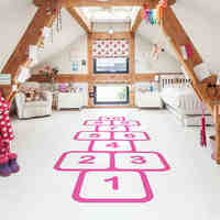 Wall Stickers For Kids Rooms Personalized Floor Decor Family Games Childhood Memories Decals Jump Pl