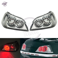1 Pair LED Motorcycle Trunk Tail Light Brake Turn Signals Motor Brake Lights Case For Honda