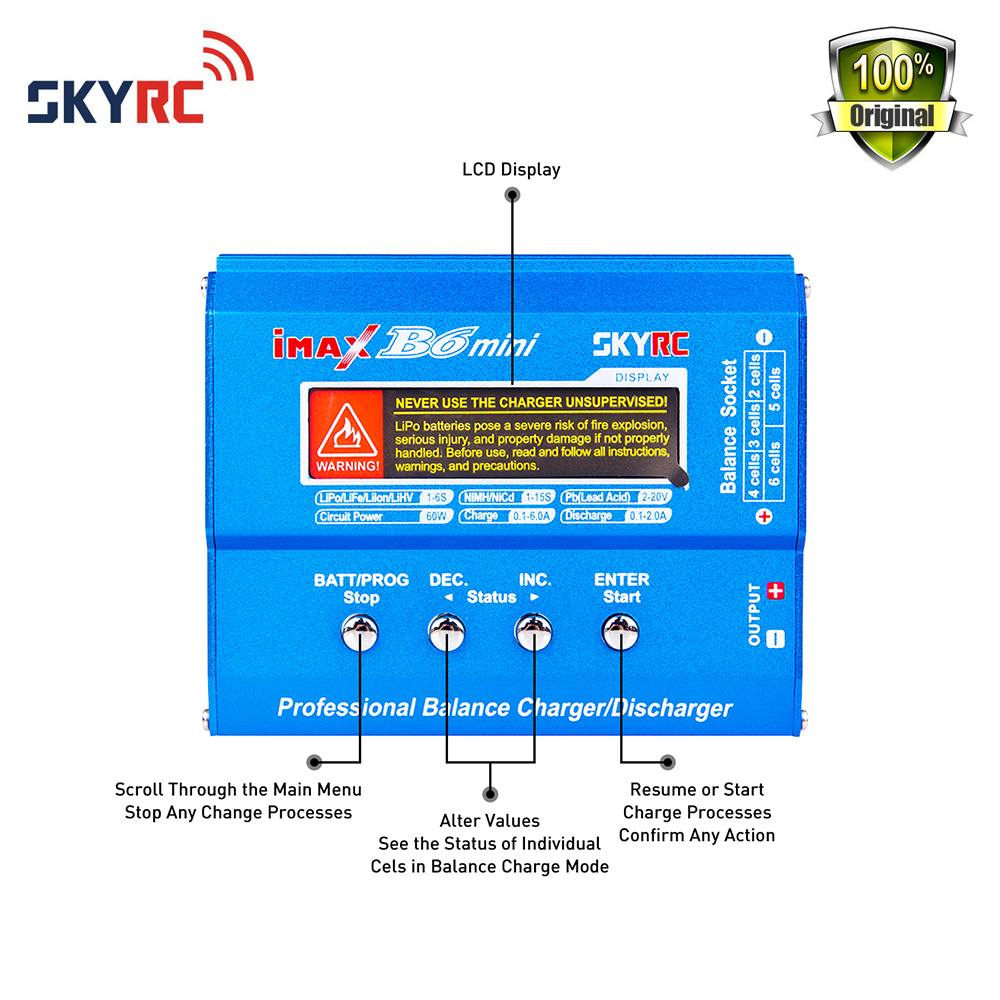 Original Skyrc Imax B6 Mini Rc Helicopte Quadcopter Nimh Li Po Foldable Frame Kit With Parallel Circuit Board Pcb 280 Batteries Balance Charger Discharger Xt60 Adapter In Parts Accessories From