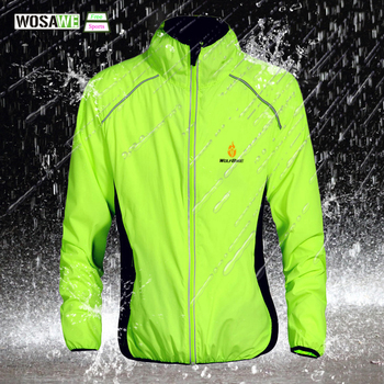 WOSAWE Windproof Cycling Jackets Sports Coat Waterproof Breathable Reflective Riding Clothing MTB Bike Jersey Wind Coat wosawe cycling windbreaker jacket cycling motocross riding outwear lightweight waterproof coat mtb bike jersey reflective coat