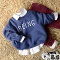 2016 Winter Boys Girls Sport Hoodies Letters Warm fleece Sweatshirt Children Clothes Baby Kids Coat Jacket Clothing 5pcs/lot
