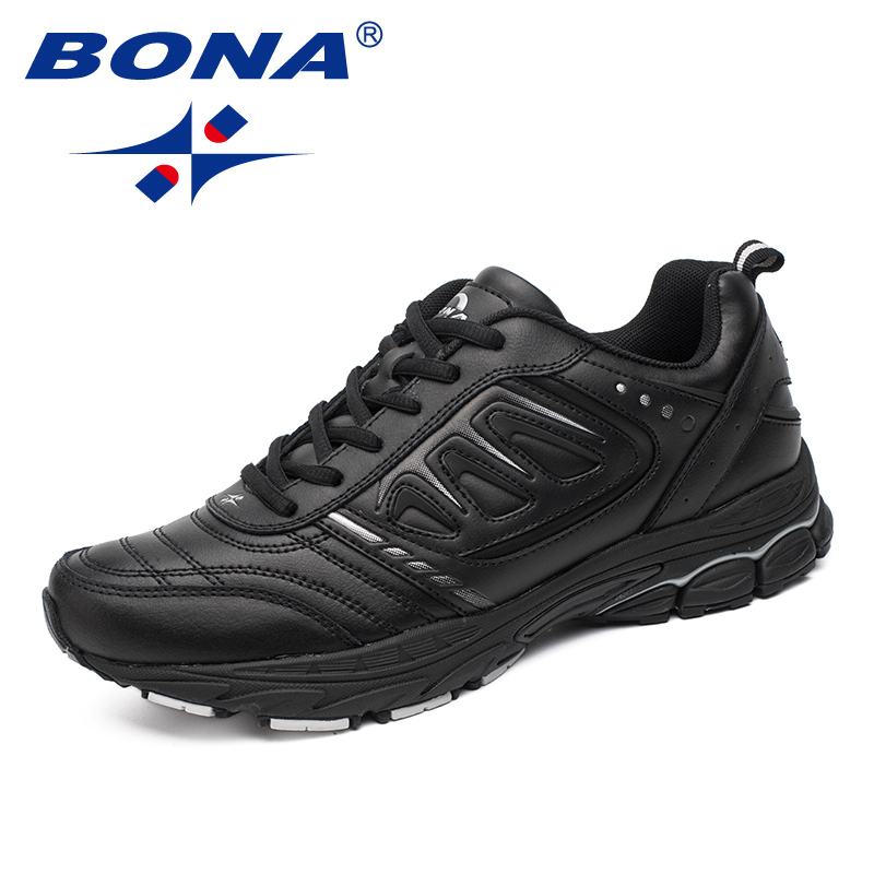 BONA New Style Men Running Shoes Ourdoor Jogging Trekking Sneakers Lace Up Athletic Shoes Comfortable Light Soft Free Shipping image