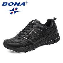 BONA новый стиль для мужчин кроссовки Ourdoor бег обувь Трекинговые кроссовки кружево до удобная спортивная обувь легкие мягкие Бесплатная доставка