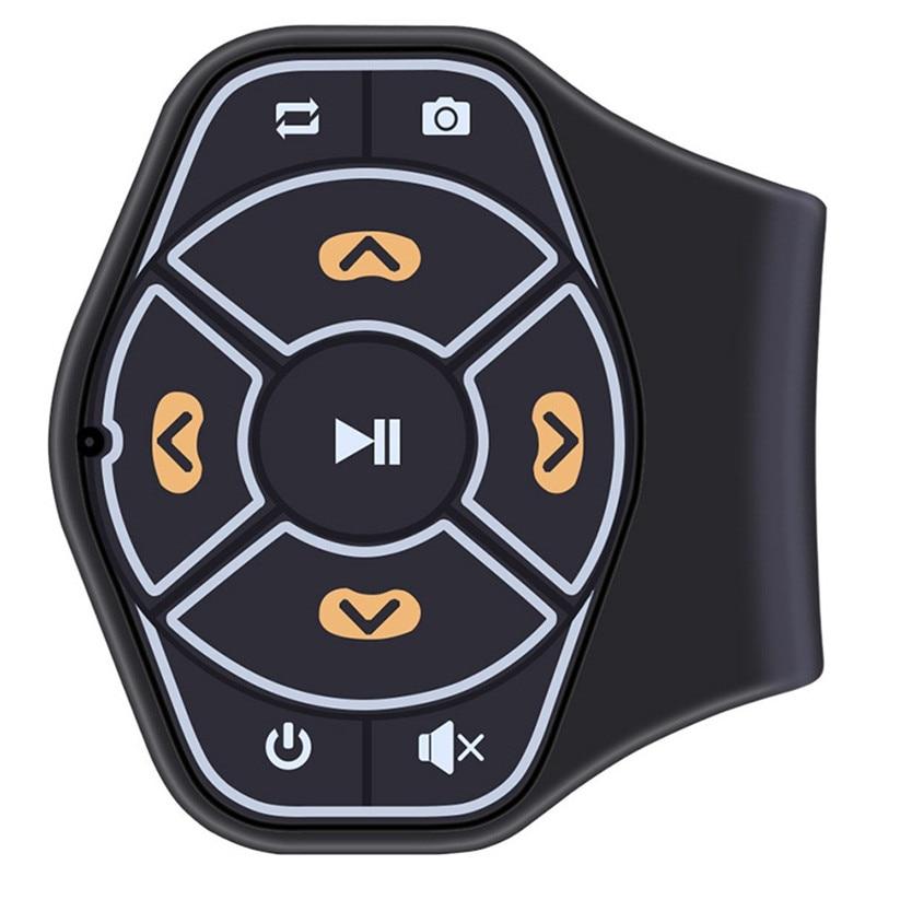 Binmer Wireless Bluetooth Steering Wheel Hands-free Button Remote Control Universal td0118 dropship 40km h 4 wheel electric skateboard dual motor remote wireless bluetooth control scooter hoverboard longboard