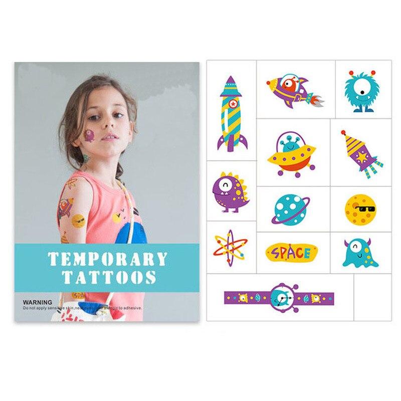 Children Watermark Color Tattoo Sticker Waterproof Cute Cartoon Tattoo Sticker Children 39 s Toy Classic Sticker in Stickers from Toys amp Hobbies