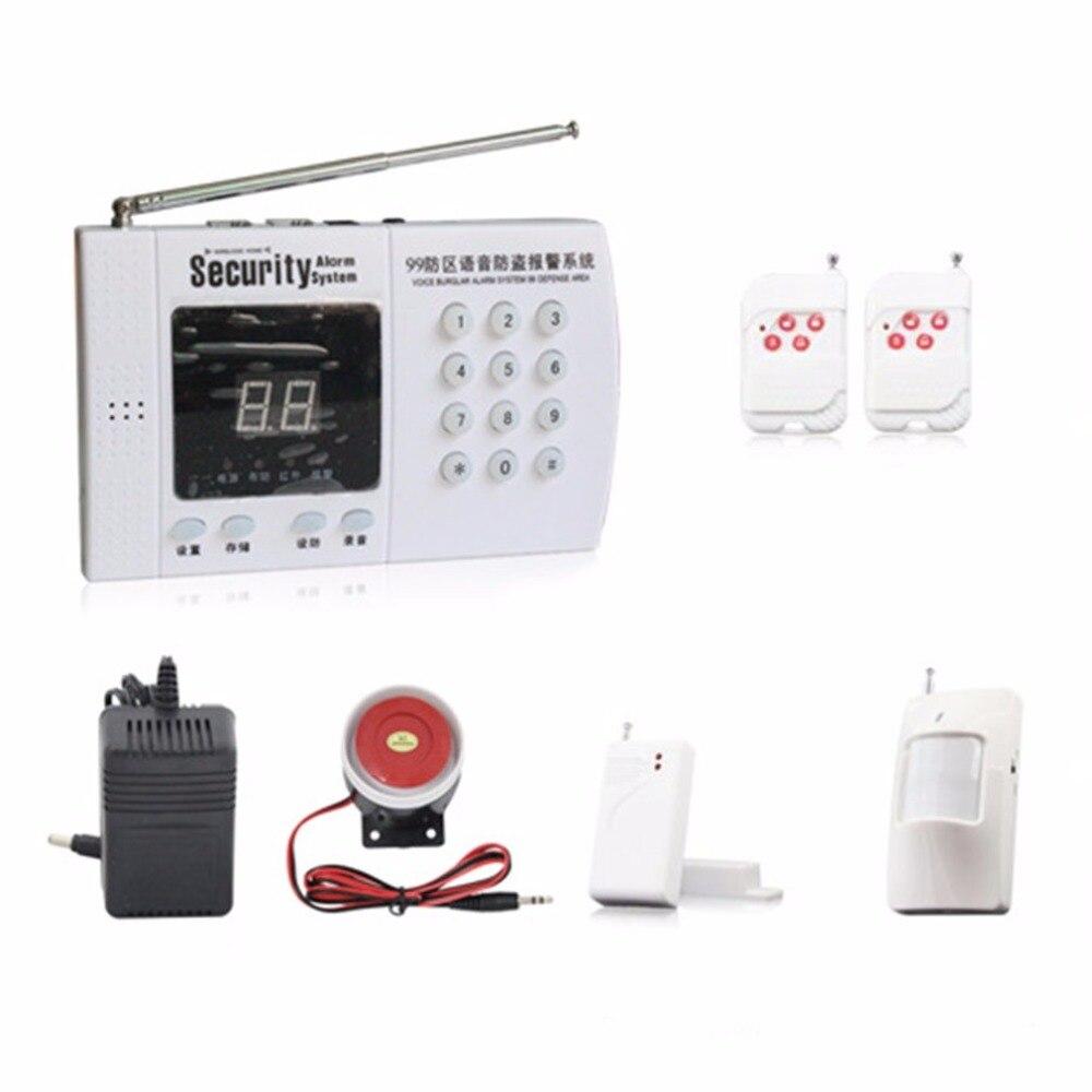315/433 MHz Téléphone Ligne Numérotation GSM Alarme Hôte kits Intelligent Voix Anti-vol Système D'alarme Maison Bureau sans fil Alarme de Sécurité
