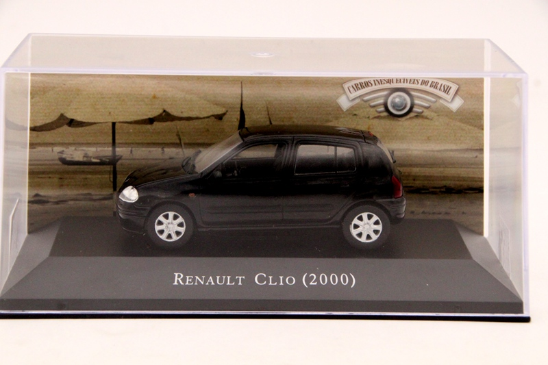 <font><b>IXO</b></font> Altaya <font><b>1:43</b></font> Scale Renault Clio 2000 Car Diecast Models Toys Limited Edition Collection Black image
