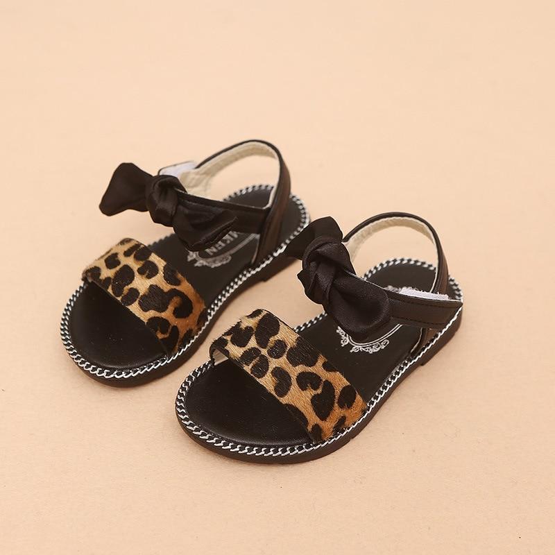 Baby Girl Leopard Sandals Summer shoe toddler kids sandals