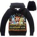 Мальчики Весна Осень Пять Ночей в фредди свитер с капюшоном с длинными рукавами Футболки детские Толстовки 741