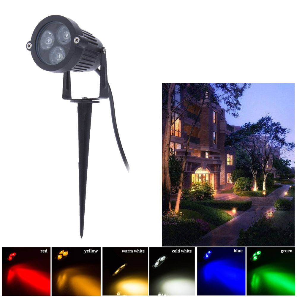 NEW arrive Outdoor led garden light spike 12V 220V 110V garden lights outdoor 3 3W outdoor
