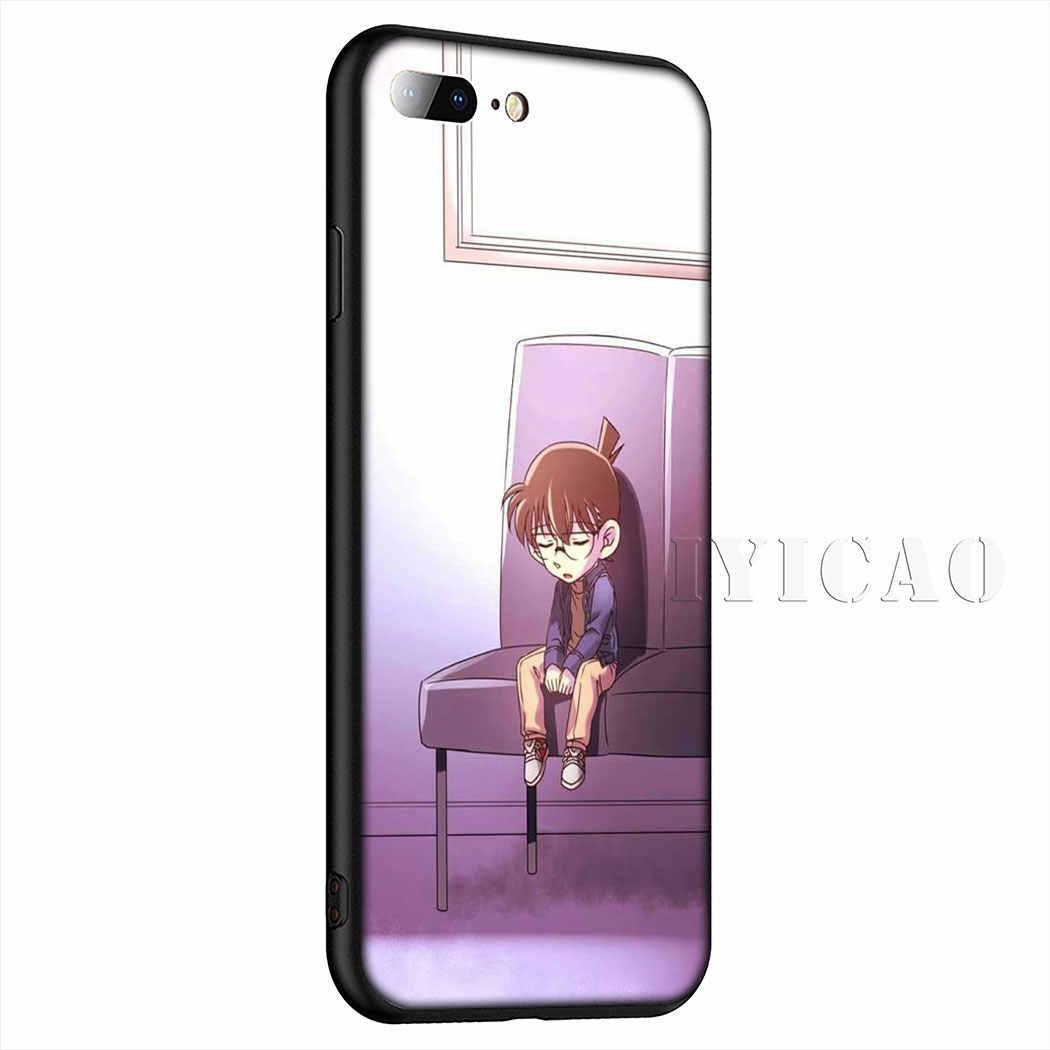 אנימה בלש קונאן רך סיליקון טלפון מקרה עבור iPhone 11 פרו Max XR X XS מקסימום 6 6S 7 8 בתוספת 5 5S SE מקרה