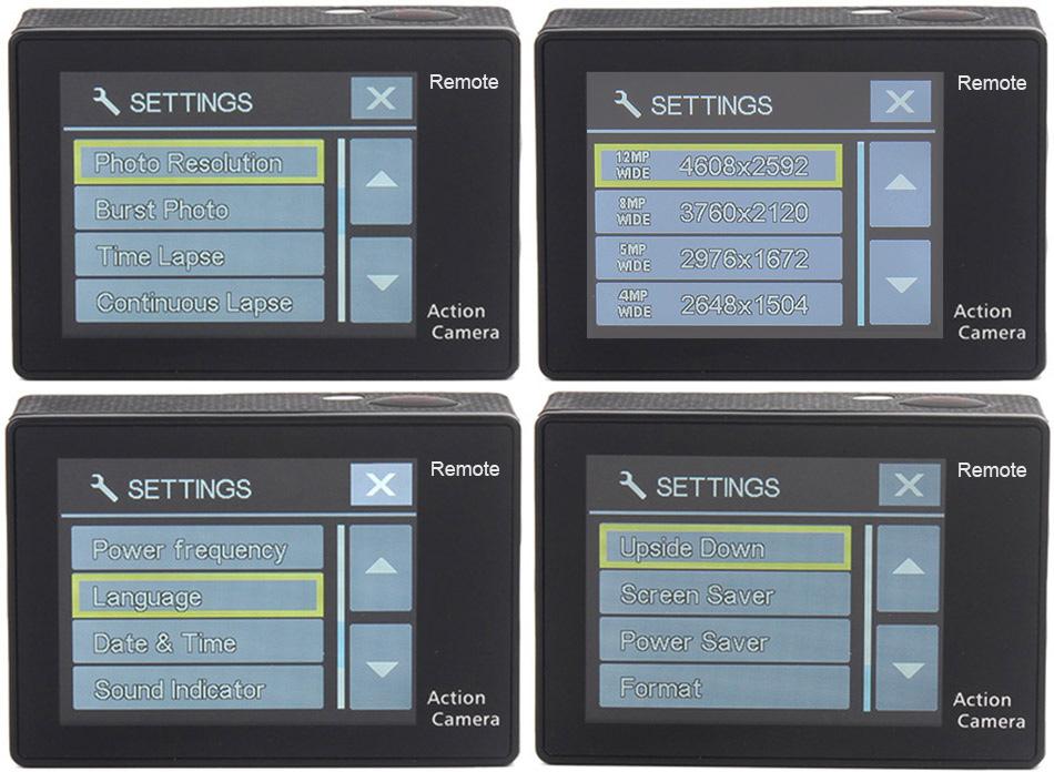 """EKEN H9R/H9 Ultra HD 4 K/30fps WiFi 2,0 """"170D impermeable bajo el agua 16"""