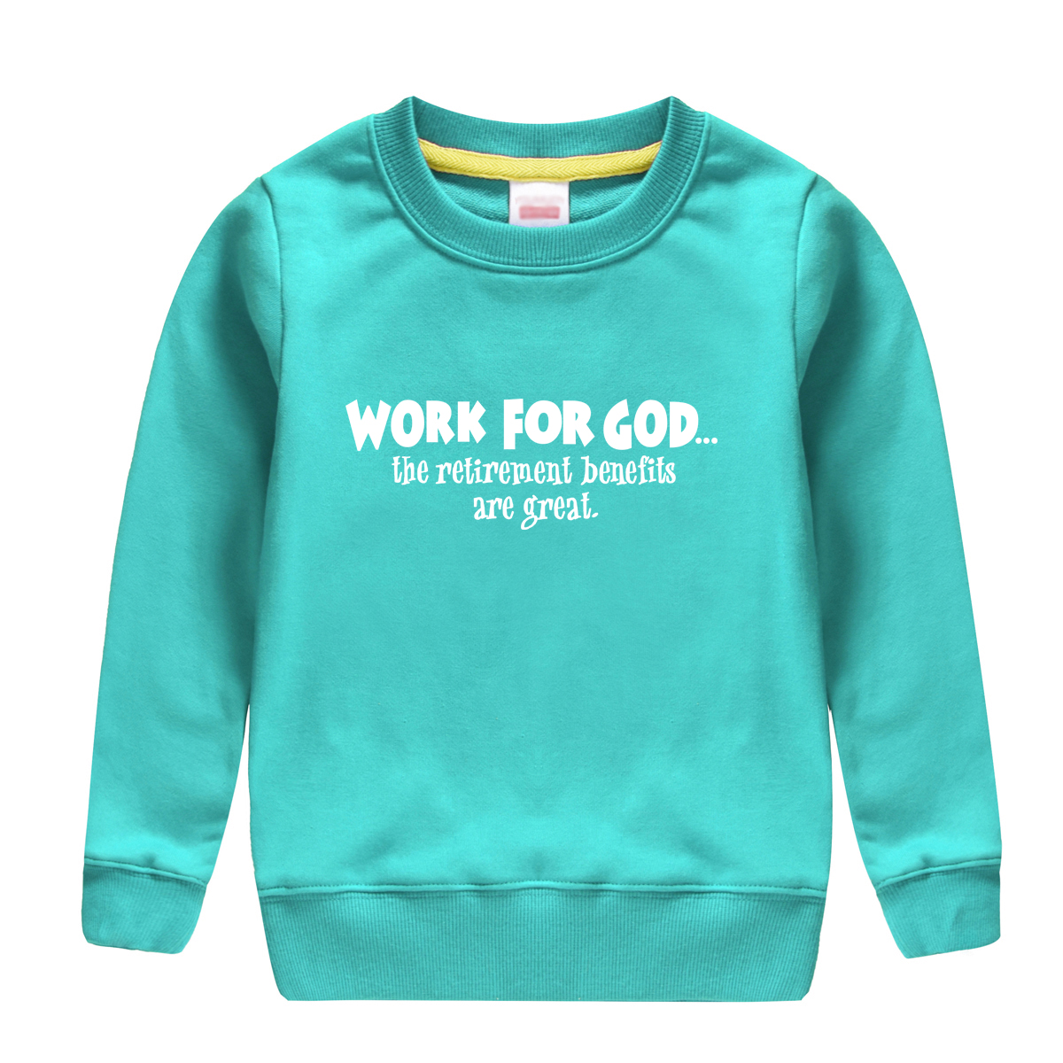 WORK FOR GOD pattern printed 2018 new fashion cotton beautiful sweatshirt baby boy hoodi ...
