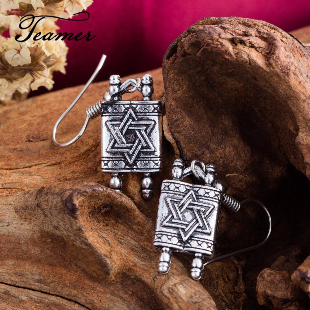 US $2 83 5% OFF|Teamer New Arrival Star Of David Earrings Jewish Hebrew  Spells Amulet Dangle Earrings Vintage Acessory for Woman Gift-in Drop  Earrings