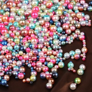 50-500Pcs/Lot Mix Size 4 6 8 10mm No Hole ABS Pearl Imitation Loose Round Needlework Beads For Garment Sewing Shoes Supplies