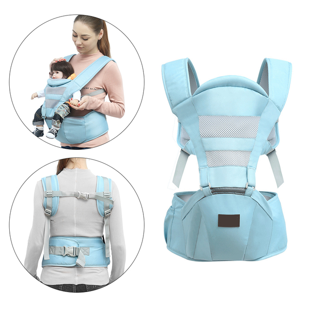 0-30 Month Breathable Front Facing Infant Baby Carrier Comfortable Sling Geometric Backpack Wrap Kangaroo Ergonomic For Baby Bag