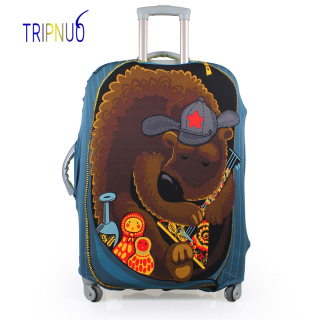 TRIPNUO Bear Luggage Cover Dust-proof Travel Bag Cover 18-30 Inch Pink Suitcase Protective Covers Portable Travel Accessories Luggage Covers