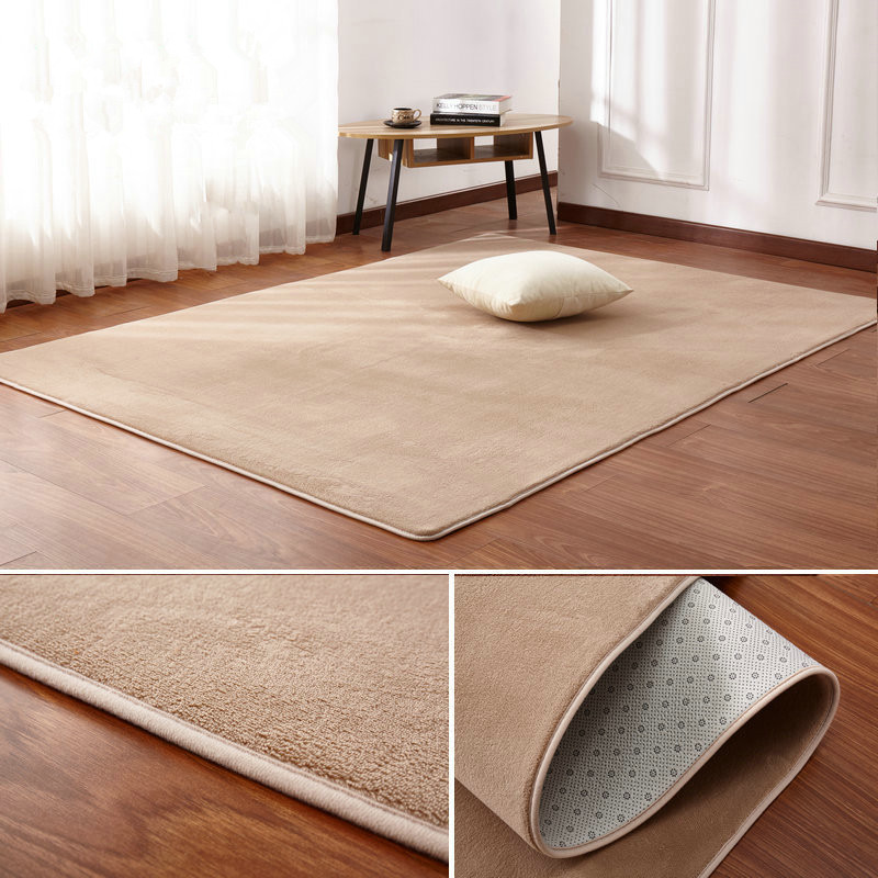160 X200 Short-haired Coral Velvet  Carpet Living Room Floor Mat Coffee Table Mat Bedroom Blanket Bed Rug Floor Mat Door Cushion
