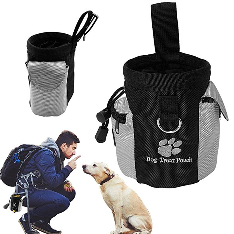 Pet Dog Treat Pouch Dog Feed Pocket Portable Detachable Doggie Training Pockets Waist Carrier Storage Hold Food Container Bag
