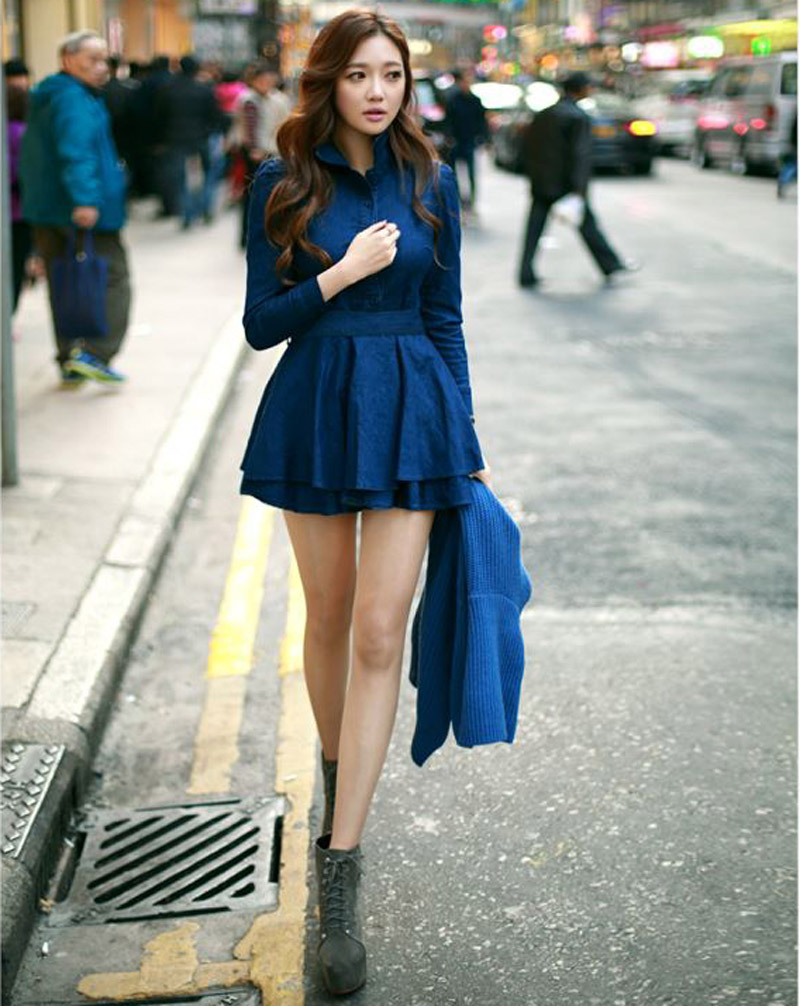 Popular Long Denim Dress-Buy Cheap Long Denim Dress lots from ...