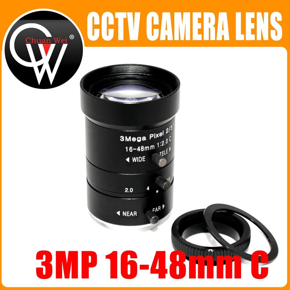 3 Mega pixel 16-48mm OBJECTIF C/CS Mont 3 Mega Pixel 2/3