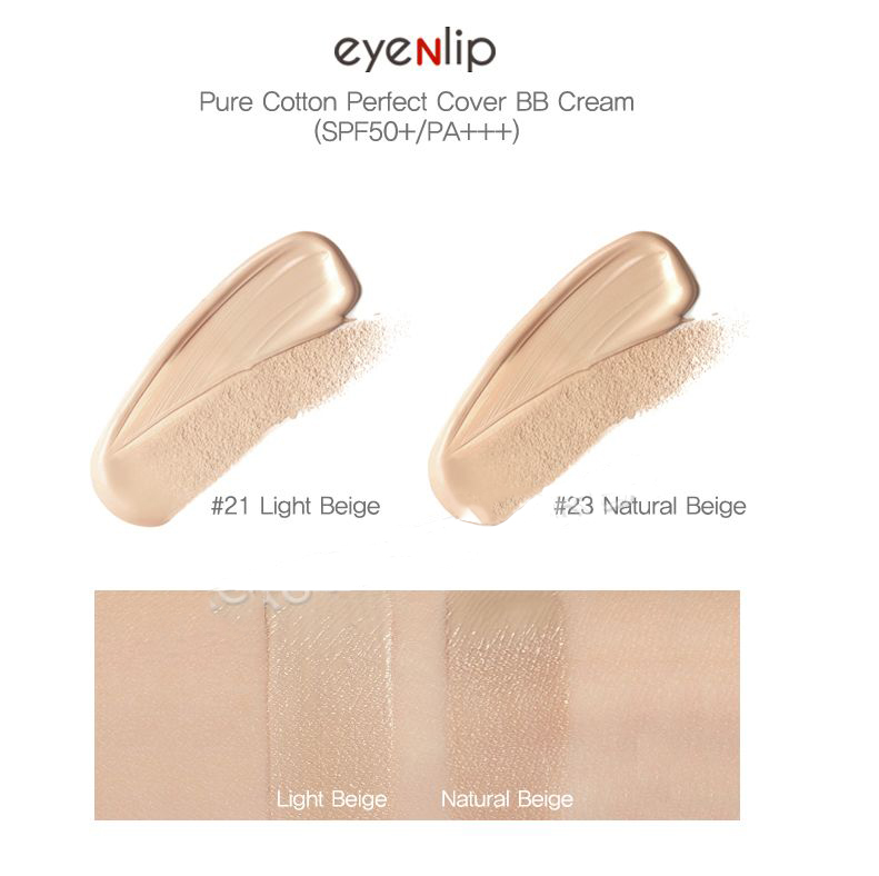 Картинки по запросу Eyenlip, ББ крем Pure Cotton Perfect Cover BB Cream (SPF50+/PA+++)