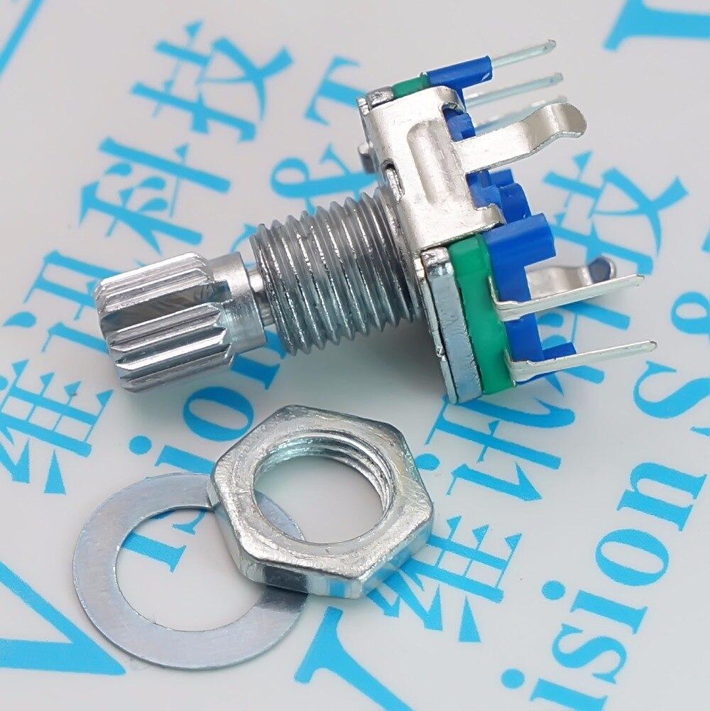 10PCS/LOT Plum handle 15mm rotary encoder coding switch EC11 digital potentiometer [bella]original japanese alps encoder ec11 encoder encodes the switch handle length 15mm 10pcs lot