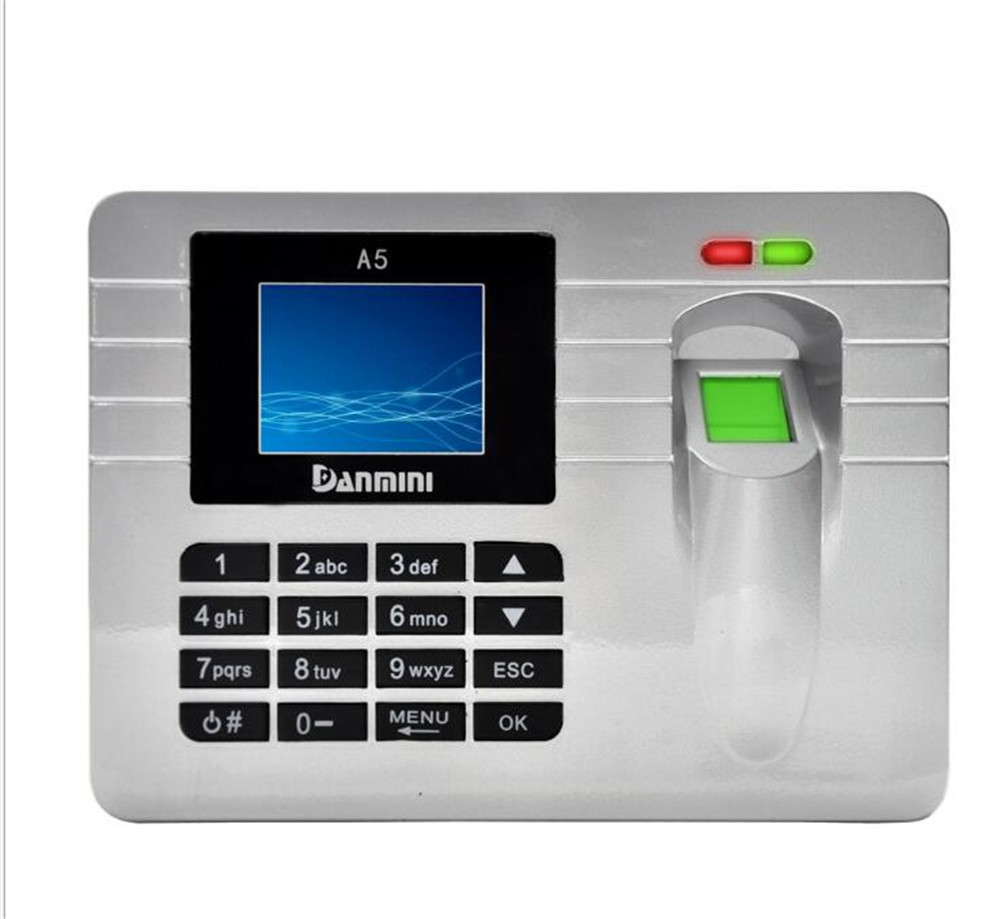 2.4 Inch TFT Monitor A5 Fingerprint Time Attendance Machine
